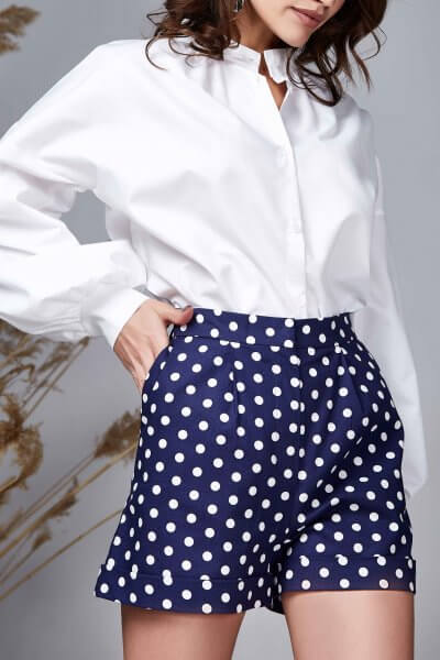 Объемная хлопковая рубашка Dakota MC_MY1419, фото 1 - в интеренет магазине KAPSULA