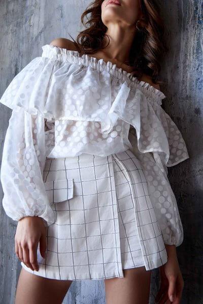 Блуза со спущенными рукавами Mia MC_MY3419, фото 1 - в интеренет магазине KAPSULA
