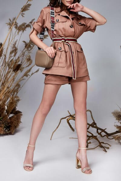 Костюм с шортами Safari из хлопка MC_my2719, фото 1 - в интеренет магазине KAPSULA
