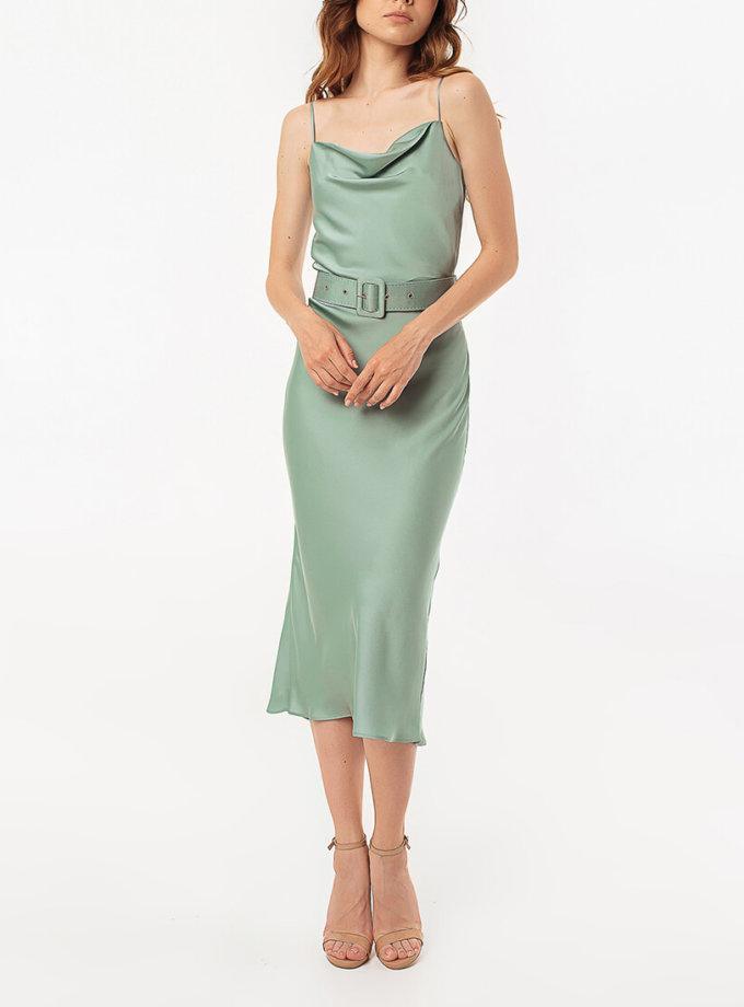 Платье на тонких бретелях с поясом MGN_1719MT, фото 1 - в интернет магазине KAPSULA