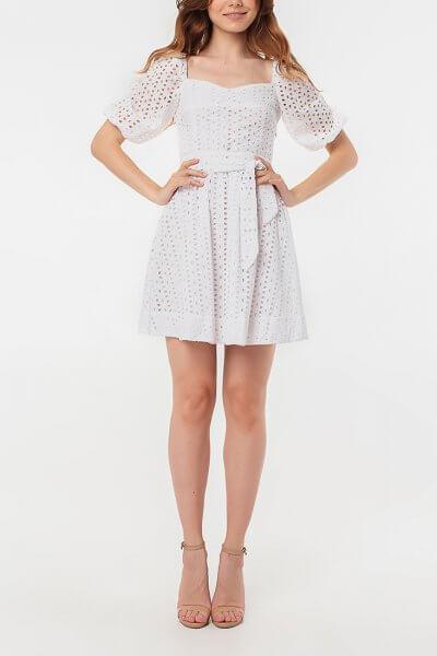 Кружевное платье из хлопка с поясом MGN_1721B, фото 4 - в интеренет магазине KAPSULA