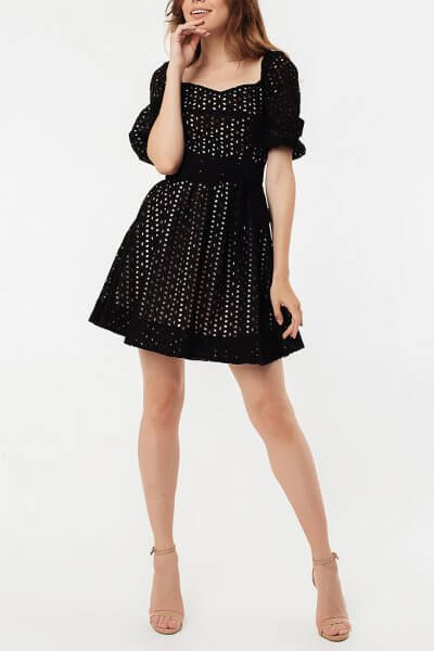 Кружевное платье из хлопка с поясом MGN_1721CH, фото 1 - в интеренет магазине KAPSULA