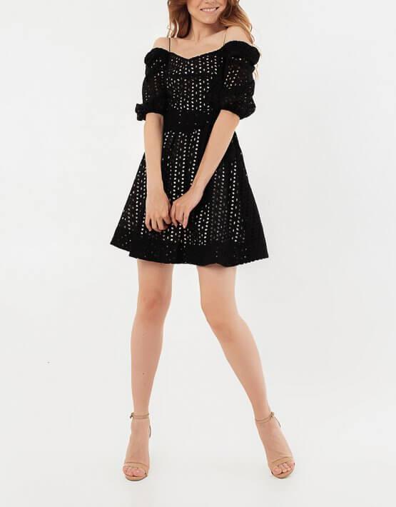 Кружевное платье из хлопка с поясом MGN_1721CH, фото 6 - в интеренет магазине KAPSULA