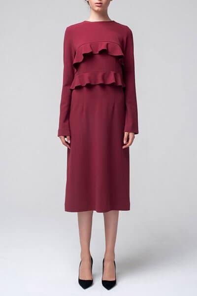 Платье миди с воланами MIN_fw1617-03_outlet, фото 1 - в интеренет магазине KAPSULA