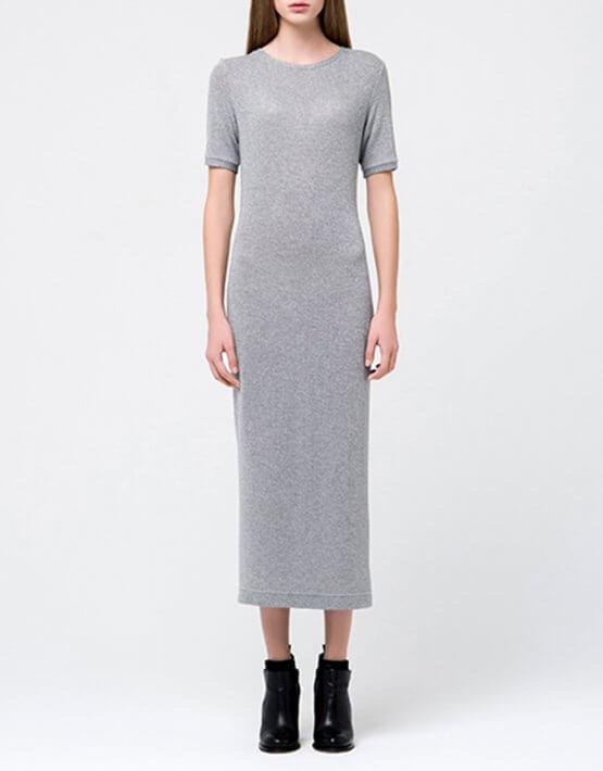 Трикотажное платье с люрексом MIN_fw1718-08_outlet, фото 3 - в интеренет магазине KAPSULA