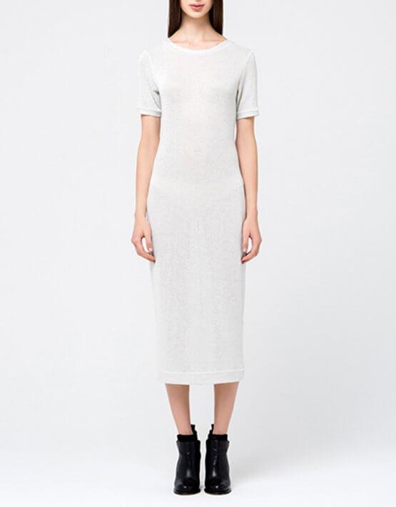 Трикотажное платье с люрексом MIN_fw1718-09_outlet, фото 3 - в интеренет магазине KAPSULA