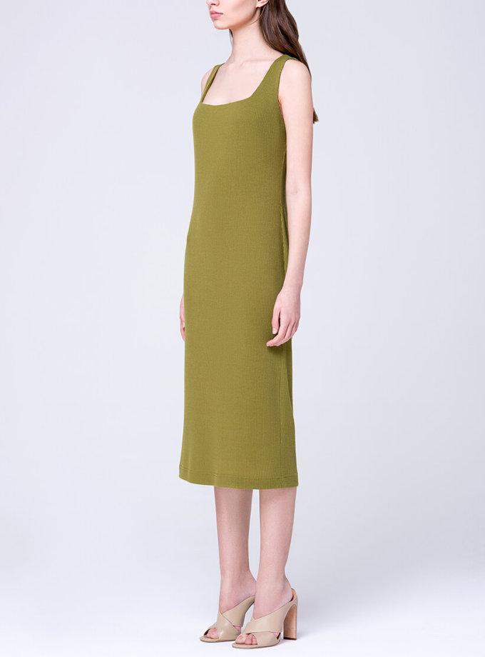Трикотажное платье на бретелях MIN_ss1712_outlet, фото 1 - в интеренет магазине KAPSULA