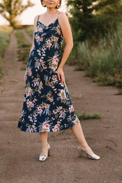 Платье миди на тонких бретелях MNTK_MTDRS209, фото 1 - в интеренет магазине KAPSULA