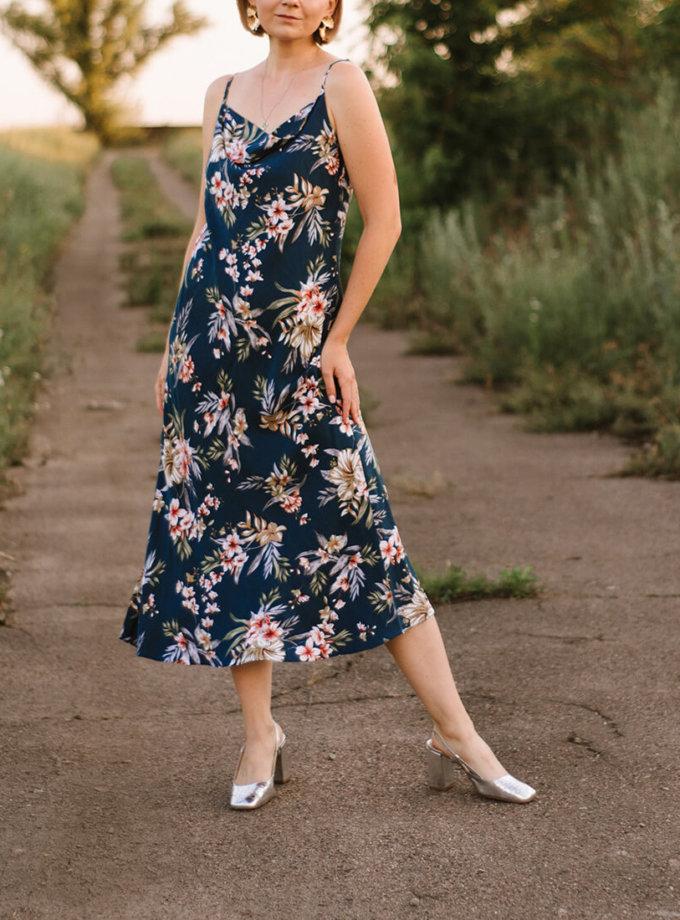 Платье миди на тонких бретелях MNTK_MTDRS209, фото 1 - в интернет магазине KAPSULA
