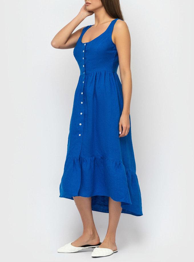 Платье из льна с воланом MRND_М51-2, фото 1 - в интеренет магазине KAPSULA