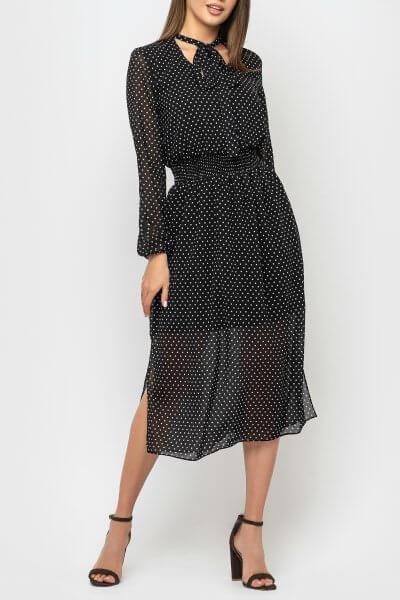 Шифоновое платье с разрезами MRND_М69-1, фото 5 - в интеренет магазине KAPSULA