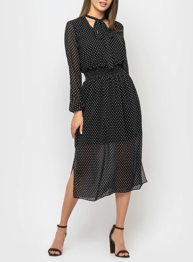 Шифоновое платье с разрезами MRND_М69-1, фото 1 - в интернет магазине KAPSULA