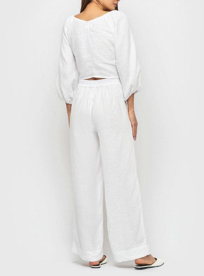 Широкие брюки из льна MRND_М90-1, фото 1 - в интеренет магазине KAPSULA