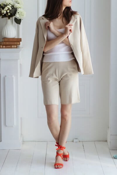 Хлопковые шорты с карманами NBL_20-SHCOTBEG, фото 1 - в интеренет магазине KAPSULA