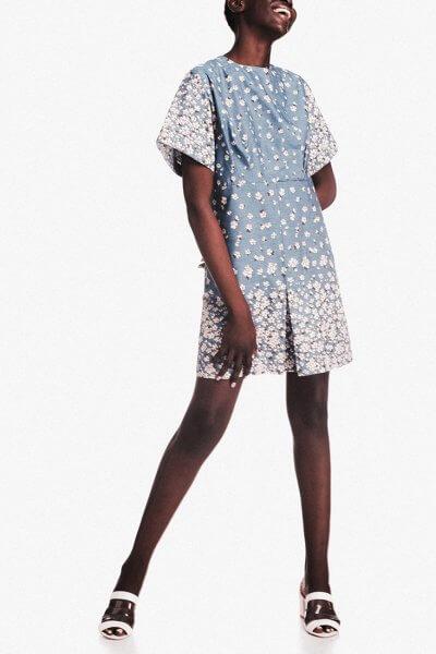 Хлопковое платье мини NM_243, фото 1 - в интеренет магазине KAPSULA