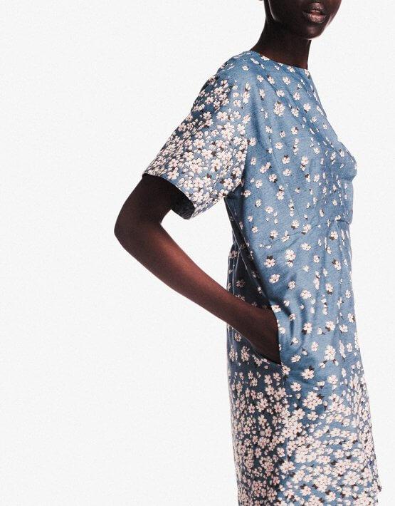 Хлопковое платье мини NM_243, фото 7 - в интеренет магазине KAPSULA