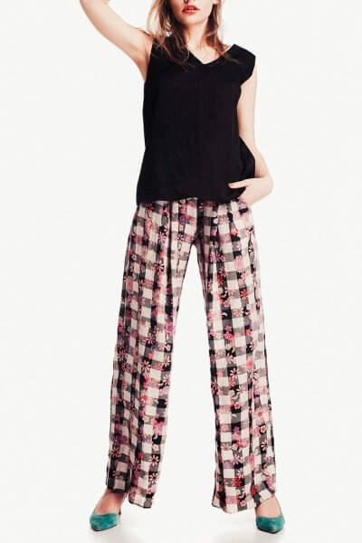 Широкие брюки в принт NM_253, фото 2 - в интеренет магазине KAPSULA