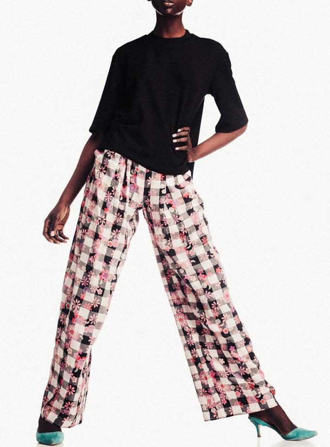 Широкие брюки в принт NM_253, фото 1 - в интеренет магазине KAPSULA