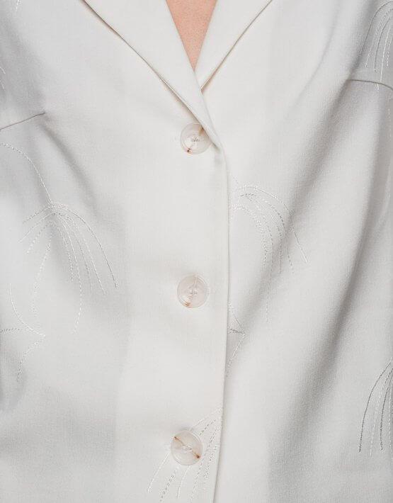 Хлопковая рубашка с коротким рукавом NM_319, фото 6 - в интеренет магазине KAPSULA