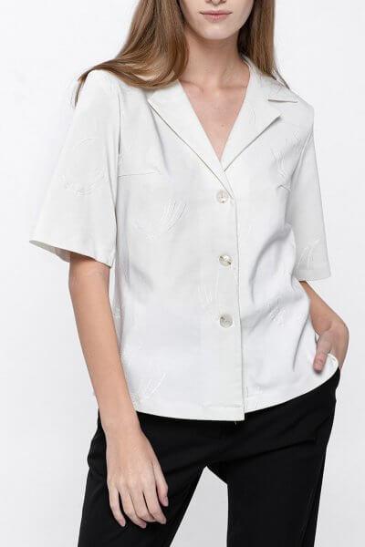 Хлопковая рубашка с коротким рукавом NM_319, фото 1 - в интеренет магазине KAPSULA