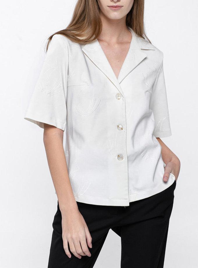 Хлопковая рубашка с коротким рукавом NM_319, фото 1 - в интернет магазине KAPSULA