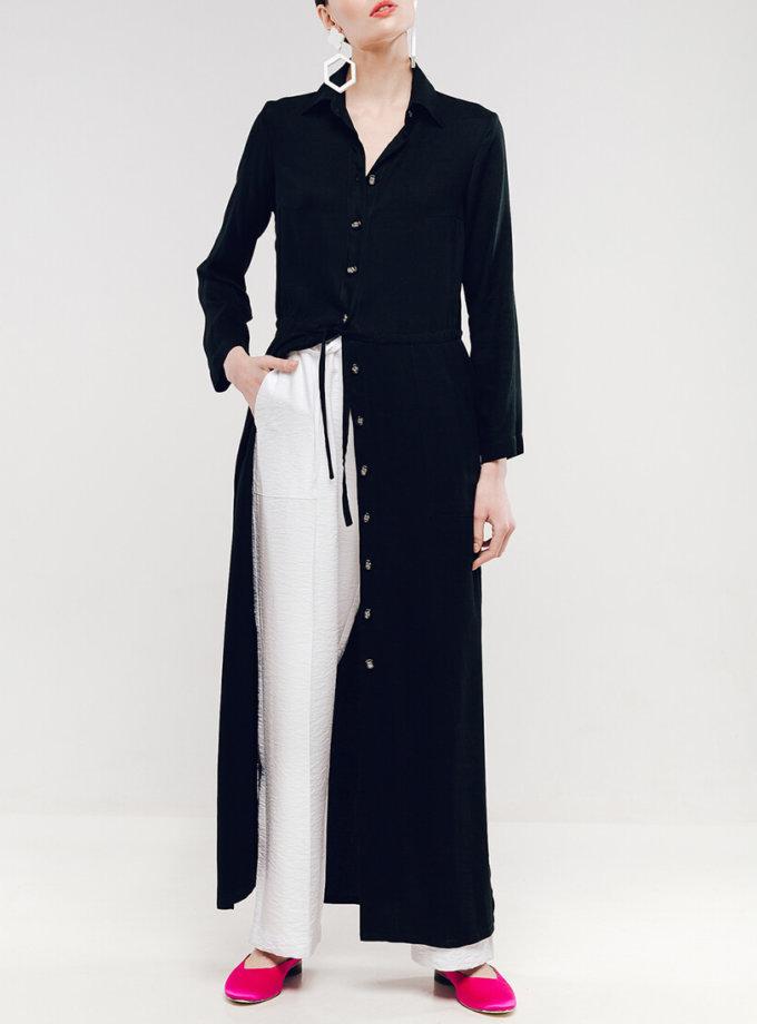 Широкие брюки на поясе-резинке NM_336-1, фото 1 - в интернет магазине KAPSULA
