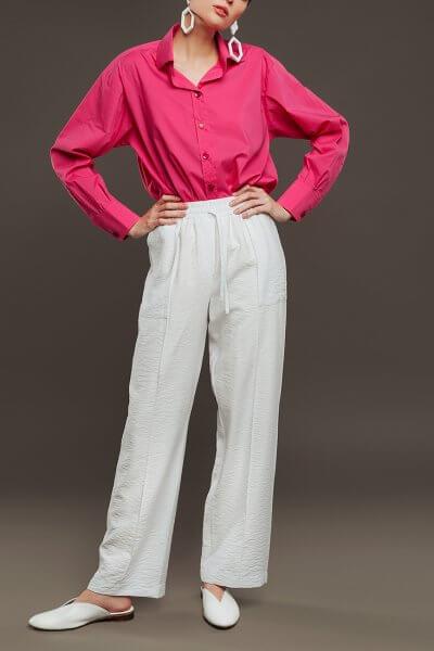 Широкие брюки на поясе-резинке NM_336-1, фото 1 - в интеренет магазине KAPSULA