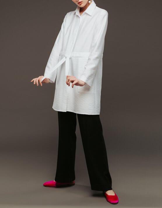Удлиненная рубашка NM_336, фото 5 - в интеренет магазине KAPSULA