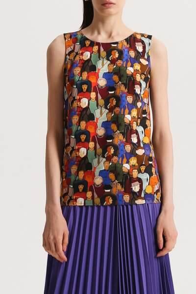 Легкая блуза в принт SHKO_13076082, фото 1 - в интеренет магазине KAPSULA