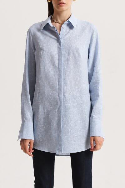 Рубашка из льна с разрезами SHKO_16001006, фото 4 - в интеренет магазине KAPSULA
