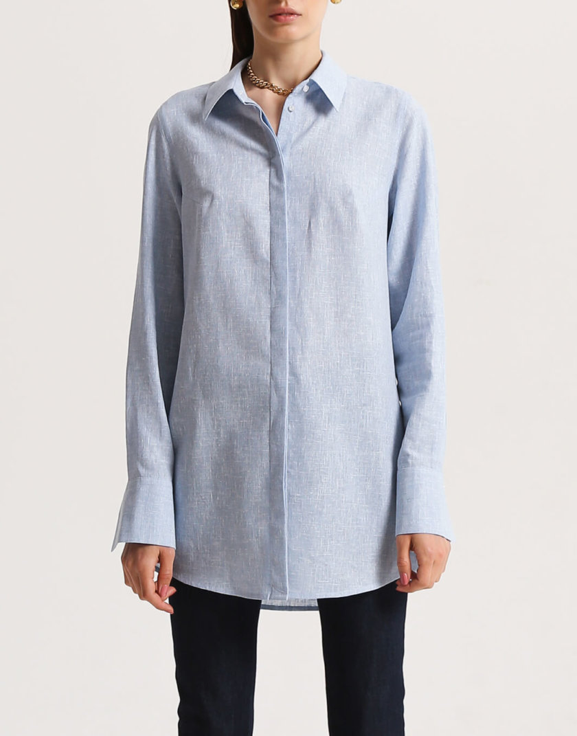 Рубашка из льна с разрезами SHKO_16001006, фото 1 - в интернет магазине KAPSULA