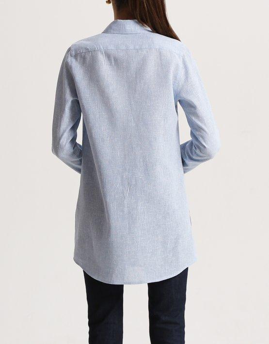 Рубашка из льна с разрезами SHKO_16001006, фото 6 - в интеренет магазине KAPSULA