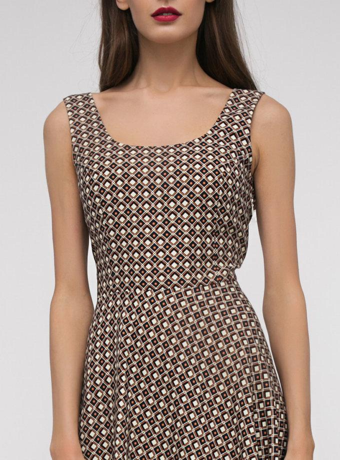 Хлопковое платье с асимметричной юбкой SHKO_17003015_outlet, фото 1 - в интернет магазине KAPSULA