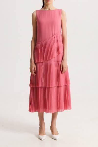Платье с гофрированными рюшами SHKO_17010004, фото 1 - в интеренет магазине KAPSULA