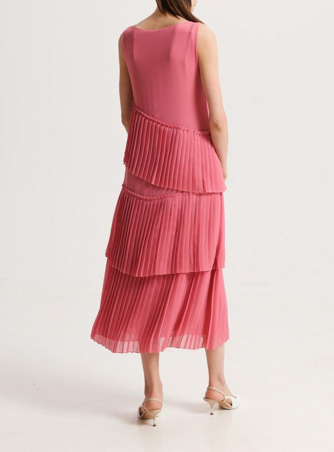 Платье с гофрированными рюшами SHKO_17010004, фото 1 - в интернет магазине KAPSULA