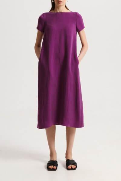 Свободное платье с карманами фиолетовое SHKO_17013024, фото 1 - в интеренет магазине KAPSULA