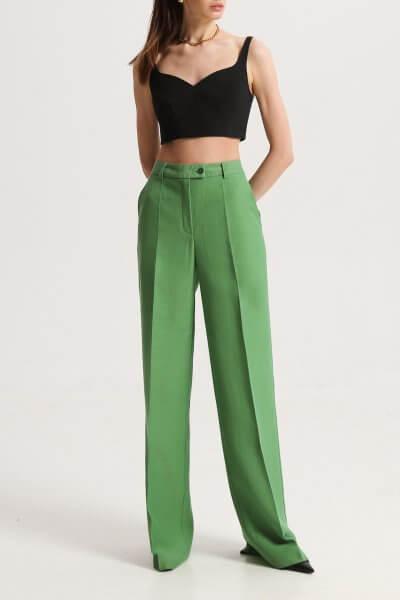 Прямые брюки зелёные SHKO_19039004, фото 1 - в интеренет магазине KAPSULA