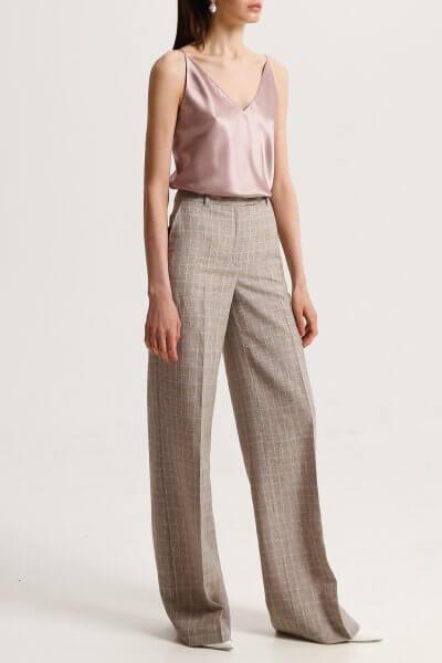 Льняные брюки в клетку SHKO_19039005, фото 1 - в интеренет магазине KAPSULA