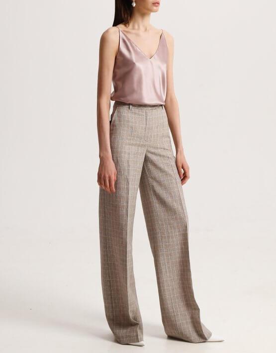 Льняные брюки в клетку SHKO_19039005, фото 5 - в интеренет магазине KAPSULA