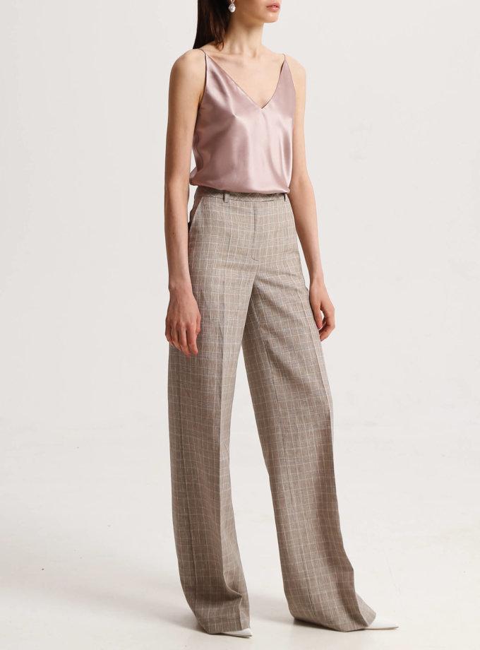 Льняные брюки в клетку SHKO_19039005, фото 1 - в интернет магазине KAPSULA