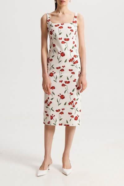 Платье-футляр из хлопка в принт SHKO_20003001, фото 1 - в интеренет магазине KAPSULA