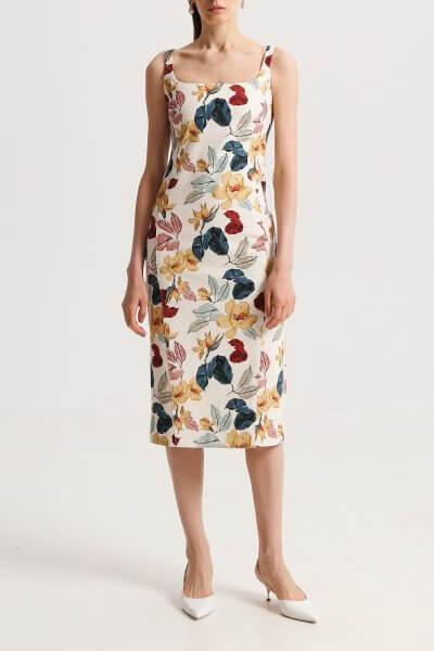 Платье-футляр из хлопка в принт SHKO_20003002, фото 1 - в интеренет магазине KAPSULA