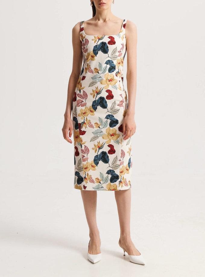 Платье-футляр из хлопка в принт SHKO_20003002, фото 1 - в интернет магазине KAPSULA
