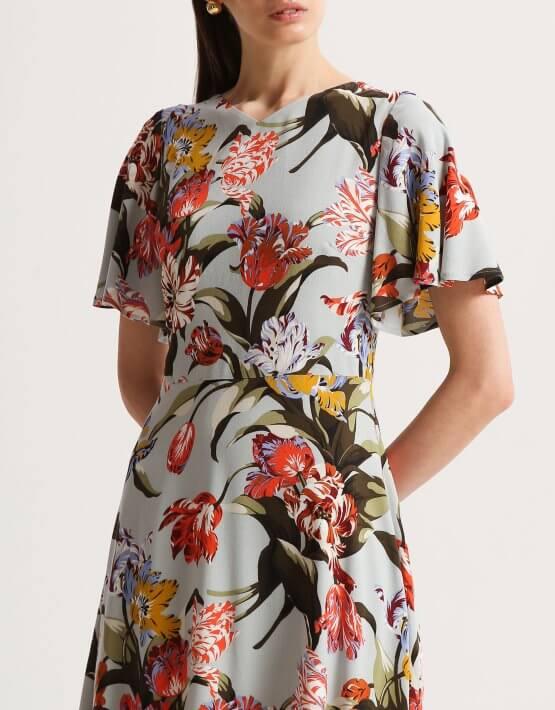 Платье с рукавами крыльями SHKO_20005001, фото 5 - в интеренет магазине KAPSULA