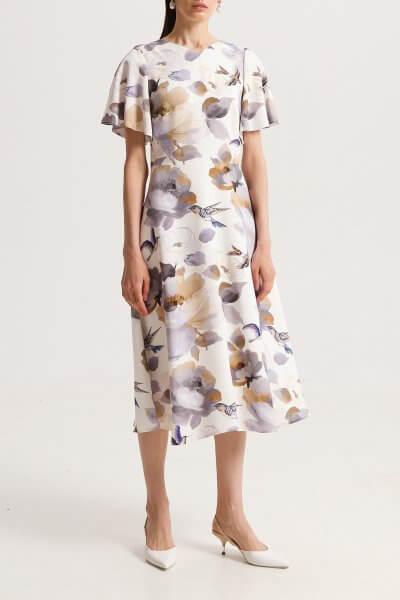 Платье на подкладе с рукавами крыльями SHKO_20005002, фото 1 - в интеренет магазине KAPSULA