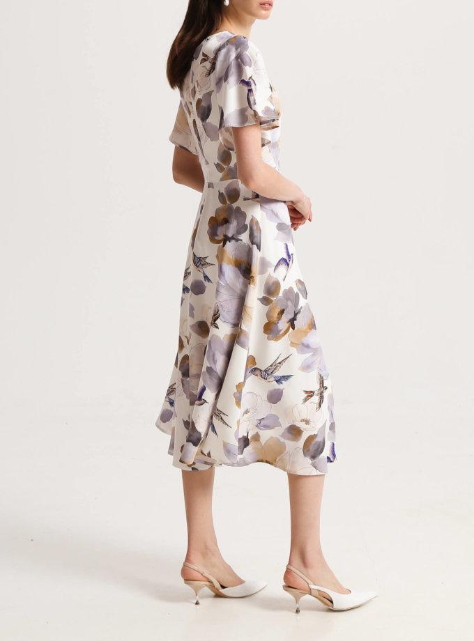 Платье на подкладе с рукавами крыльями SHKO_20005002, фото 1 - в интернет магазине KAPSULA
