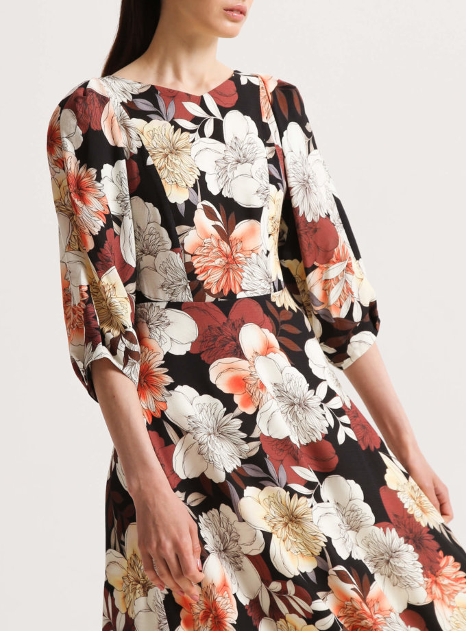Платье А-силуэта в принт SHKO_20010002, фото 1 - в интернет магазине KAPSULA