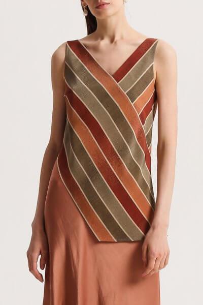 Асимметричная блуза из шелка SHKO_20011001, фото 1 - в интеренет магазине KAPSULA