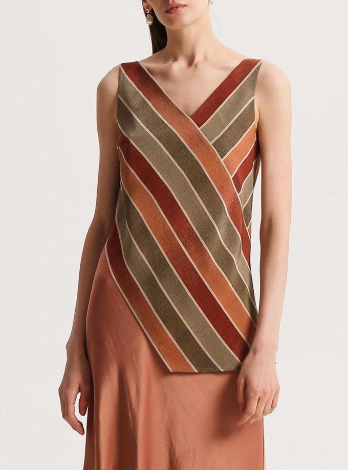 Асимметричная блуза из шелка SHKO_20011001, фото 1 - в интернет магазине KAPSULA