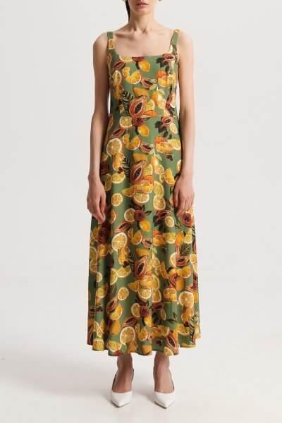 Платье на широких бретелях в принт SHKO_20013002, фото 1 - в интеренет магазине KAPSULA